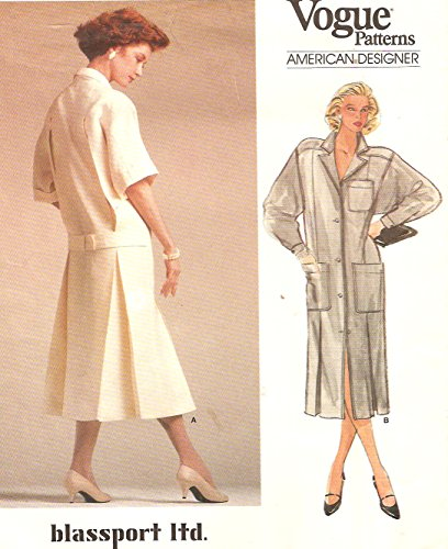 Vogue Bill Blass Blassport vintage 1980s sewing pattern 1543 designer dress – Size ()