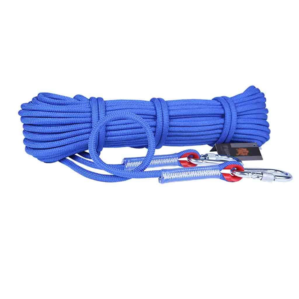 B YXWssa équipement d'escalade Corde de sécurité for Alpinisme Brut de 9,5 mm, Corde d'escalade extérieure optionnelle MultiCouleure, Corde de Sauvetage en polypropylène (Couleur   C, Taille   20 Meters) 50 meters