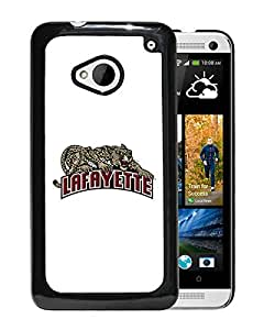NCAA Lafayette Leopards 04 Black HTC ONE M7 Protective Phone Cover Case