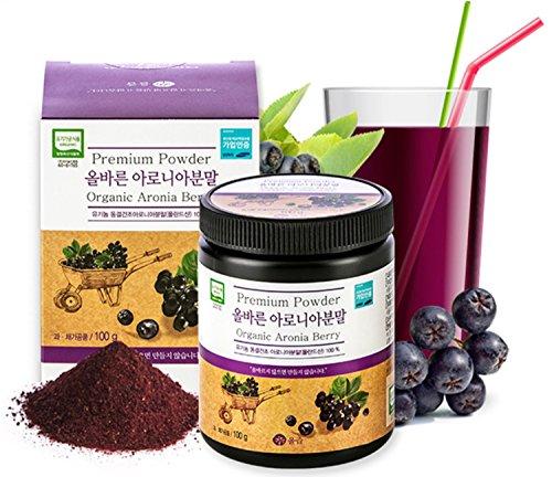 ARIO 100 % Organic Aronia Berry Extract Powder (Poland) - Chokeberry Powder (3.5 oz / 100 g)   Freeze Dried   Immunity   Circulation   Antioxidants   Anti-Inflammatory Supplements