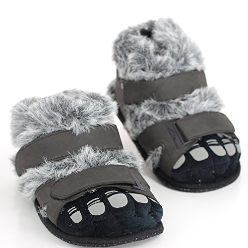Sleeper'z – Pieds Poilus - Chaussons animaux peluche – Homme