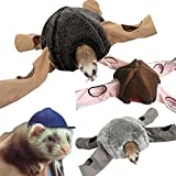 Marshall Ferret Tunnel 4 Way OCTOPUS Shape Play&Hide Tubes Castle Tent Rug Cage Toys for Small Animals (Black)