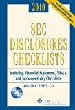 SEC Disclosures Checklist 2010,Edition, Pippin CPA, Ronald G., 0808022989