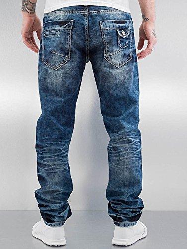 Cipo Baxx amp; Stevenage Straight Blu Jeans Fit Uomo wwPOqA