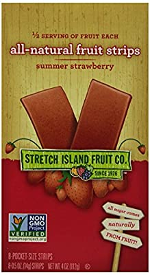 Stretch Island All Natural Fruit Strips, Strawberry, 8-Count Strips, 0.5 Ounces (Pack of 6)