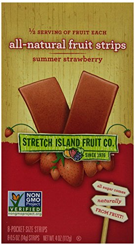 (Stretch Island All Natural Fruit Strips, Strawberry, 8-Count Strips, 0.5 Ounces (Pack of 6))