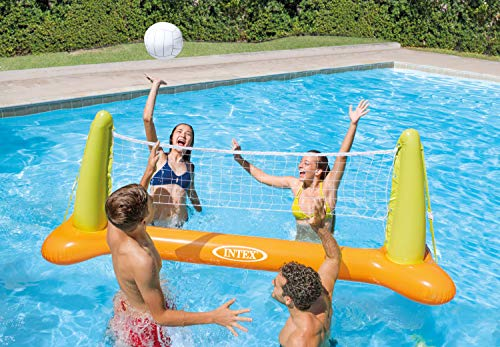51jN8FnkLBL - Intex Pool Volleyball Game, 94in X 25in X 36in, for Ages 6+