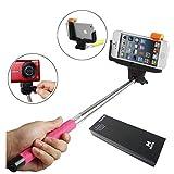 YOPO Selfie Stick Extendable Bluetooth Remote Monopod (Pink)