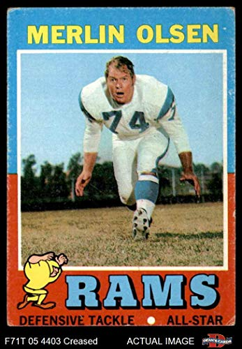 - 1971 Topps # 125 Merlin Olsen Los Angeles Rams (Football Card) Dean's Cards 3 - VG Rams