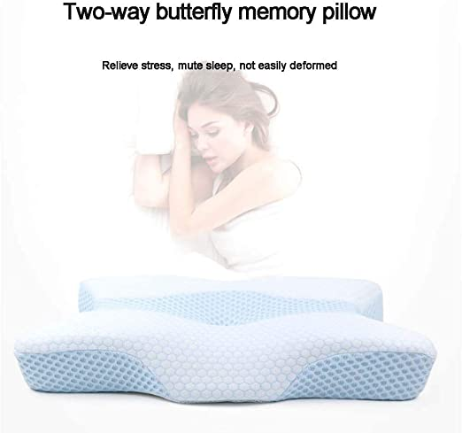 Memory Foam Pillow Neck Massage Neck Pillow Butterfly Memory Pillow S0G3