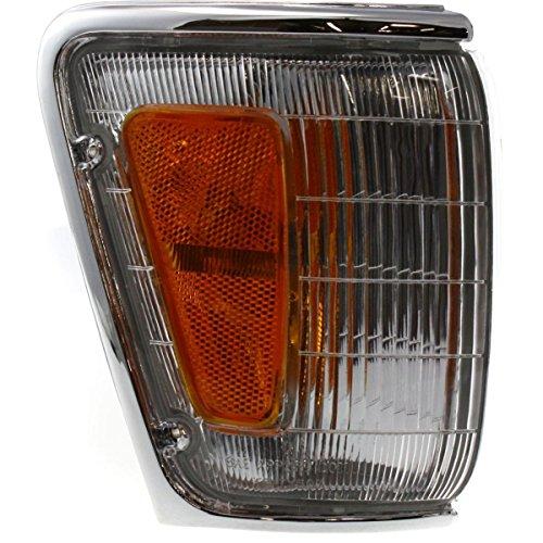 DAT 89-91 TOYOTA PICKUP 4WD CHROME PARKING LIGHT ASSEMBLY CORNER OF FENDER RIGHT PASSENGER SIDE TO2521126