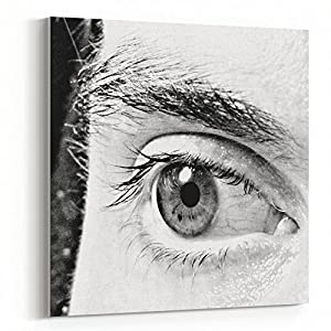 Westlake Art Eyelash Photography - 16x16 Canvas Print Wall Art - Canvas Stretched Gallery Wrap Modern Picture Photography Artwork - Ready to Hang 16x16 Inch (0257-C95EE)
