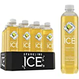 Sparkling Ice Ginger Lime Sparkling Water, with Antioxidants and Vitamins, Zero Sugar, 17 Ounce Bottles (Pack of 12)