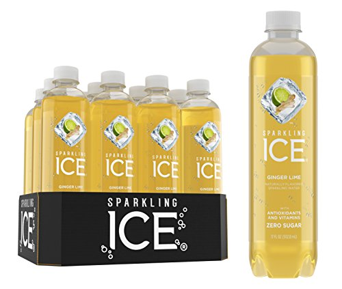 - Sparkling Ice Ginger Lime Sparkling Water, with Antioxidants & Vitamins, Zero Sugar, 17 oz Bottles (Pack of 12)
