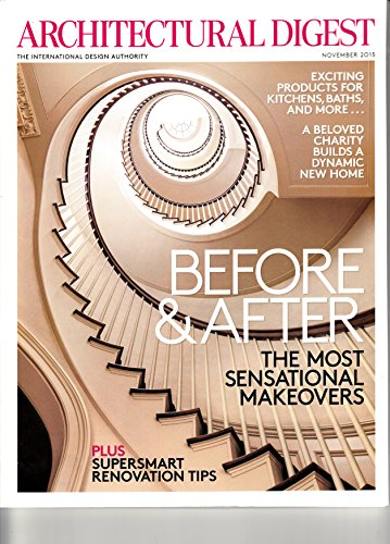 Architectural Digest Magazine (November, 2015) Before & After
