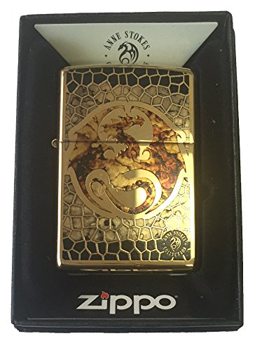 Zippo Custom Lighter - Ann Stokes Artist Dragon w/ Scales De