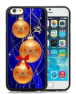 Customized Portfolio iPhone 6 Case,Merry Christmas Black iPhone 6 4.7 Inch TPU Case 55