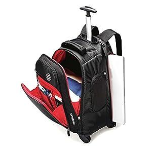 Samsonite Luggage Mvs Spinner Backpack, Black, 19 Inch