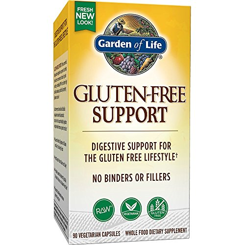 Cheap Garden of Life Gluten Free Support – Vegetarian Digestive Enzymes for Gluten and Dairy Support, 90 Capsules