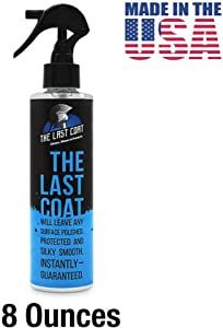 The Last Coat Car Polish - Water Based Liquid Coating Protection, Smooth & Shiny Finish - Paint Care & Repair for Car or Any Surface (8 oz Bottle)