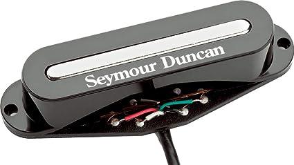 4 Cond Seymour Duncan STK-S2b Hot Stack Plus Strat Bridge Ceramic Pickup White