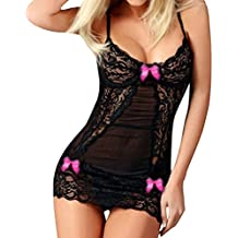 Clearance!!!2018 Twinsmall Women Babydoll Lingerie Set Sexy Nightwear Lace Chemise (Green, S)