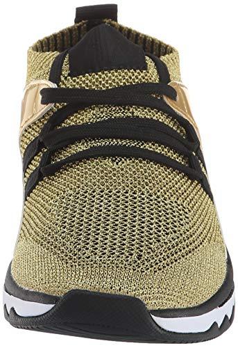 Armani Para Mujer Low Exchange Zapatillas Argento Sneaker black silver top K483 rgWSrqRw4