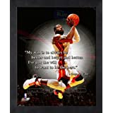 Dwyane Wade Miami Heat Pro Quotes Framed 8x10 Photo