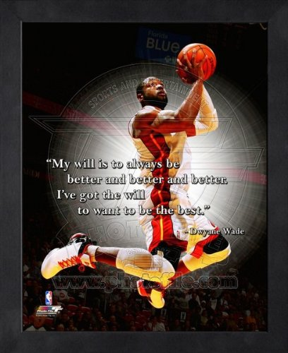 Dwyane Wade Miami Heat Pro Quotes Framed 8x10 Photo