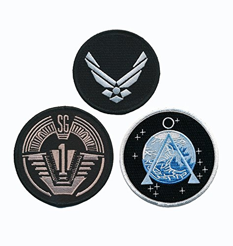 Stargate SG-1 Uniform/Costume Patch Set of 3 pcs Iron On Sew On by Miltacusa by Miltacusa