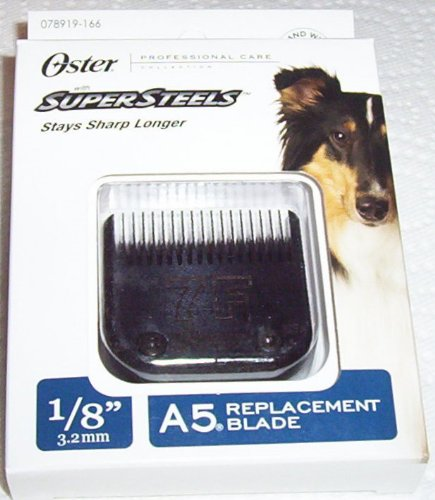 Oster Super Steels A5 Replacement Blades, #7F BLADE, 1/8