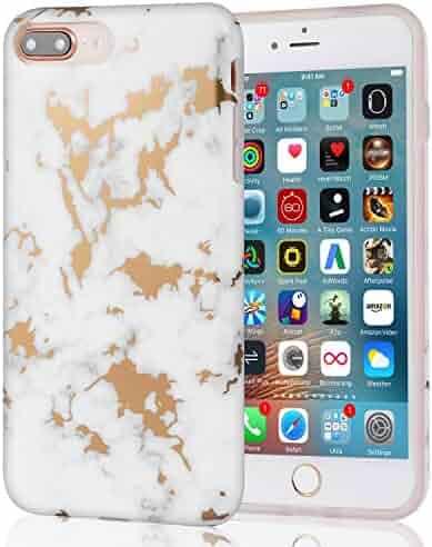 4f89371de145 White Marble with Rose Gold Design Slim Soft Silicone Bumper Scratch  Resistant TPU Rubber Matte Skin