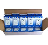 GFCI Outlet Receptacle, 20 Amp, Weather / Tamper Resistant UL Listed (10 PCS)
