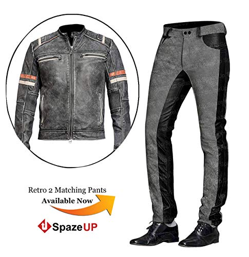 Cafe Racer Vintage Motorcycle Leather Pants
