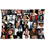 Custom Johnny Depp Queen Size(20x30 inches) Zippered Pillow Case-Two sides