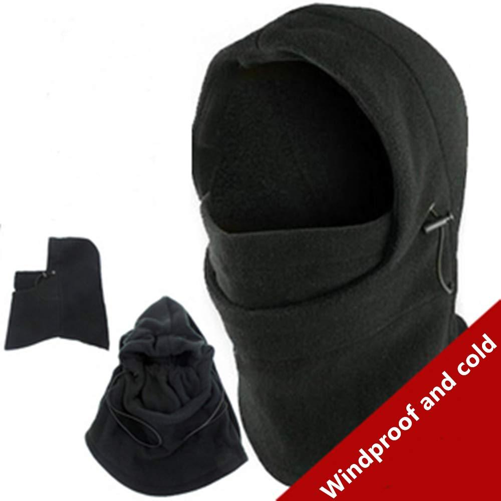 SHINYEVER Windproof Ski Mask Winter Thermal Fleece Hood Heavyweight Neck Warmer Snood Outdoor Sports Face Covers Hat for Men /& Women