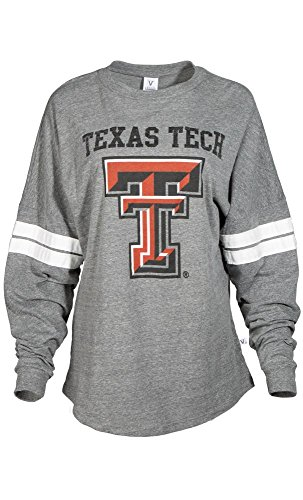 - Official NCAA Texas Tech University Red Raiders TTU Masked Raider WRECK EM! Women's Long Sleeve Tri- Blend Football Tee