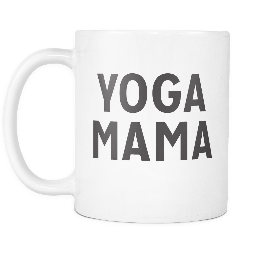 Amazon.com: Yoga Mama Mug - Bold Design, 11oz Ceramic Coffee ...