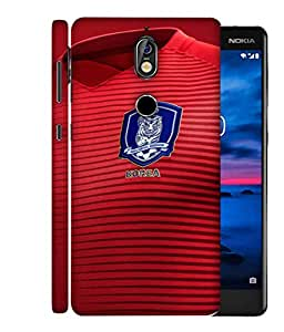 ColorKing Football South Korea 08 Red shell case cover for Nokia 7