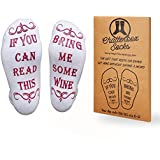 If You Can Read This Bring Me Wine Socks - Perfect Gift Idea, Christmas