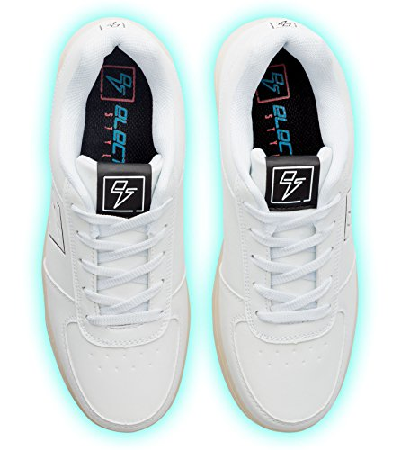 Light Up Shoes - Bolt Low Top, 6 B(M) US White by Electric Styles (Image #3)