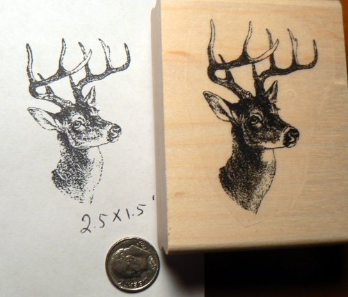 Deer rubber stamp P51