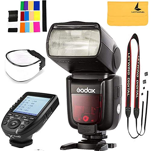Godox TT685C Thinklite TTL Camera Flash 2.4GHz High Speed 1/8000s GN60 Compatible Canon EOS Cameras E-TTL II Autoflash,GODOX XPro-C Wireless High Speed Sync 1/8000s X System High-Speed Flash Trigger