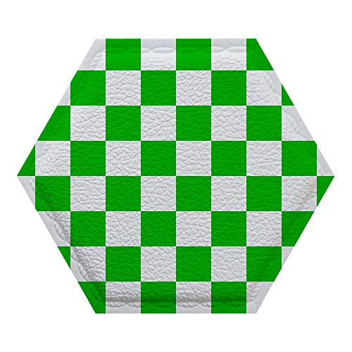 GIRLSIGHT 8 Pcs Easy self-Adhesive Design Wall Sticker,3D Decorative Soft Panels for Kitchen Bathroom/Sofa Background Wall Decor 104.checkerboard-green-patterns-pattern-26400 (Pc Boards 104)