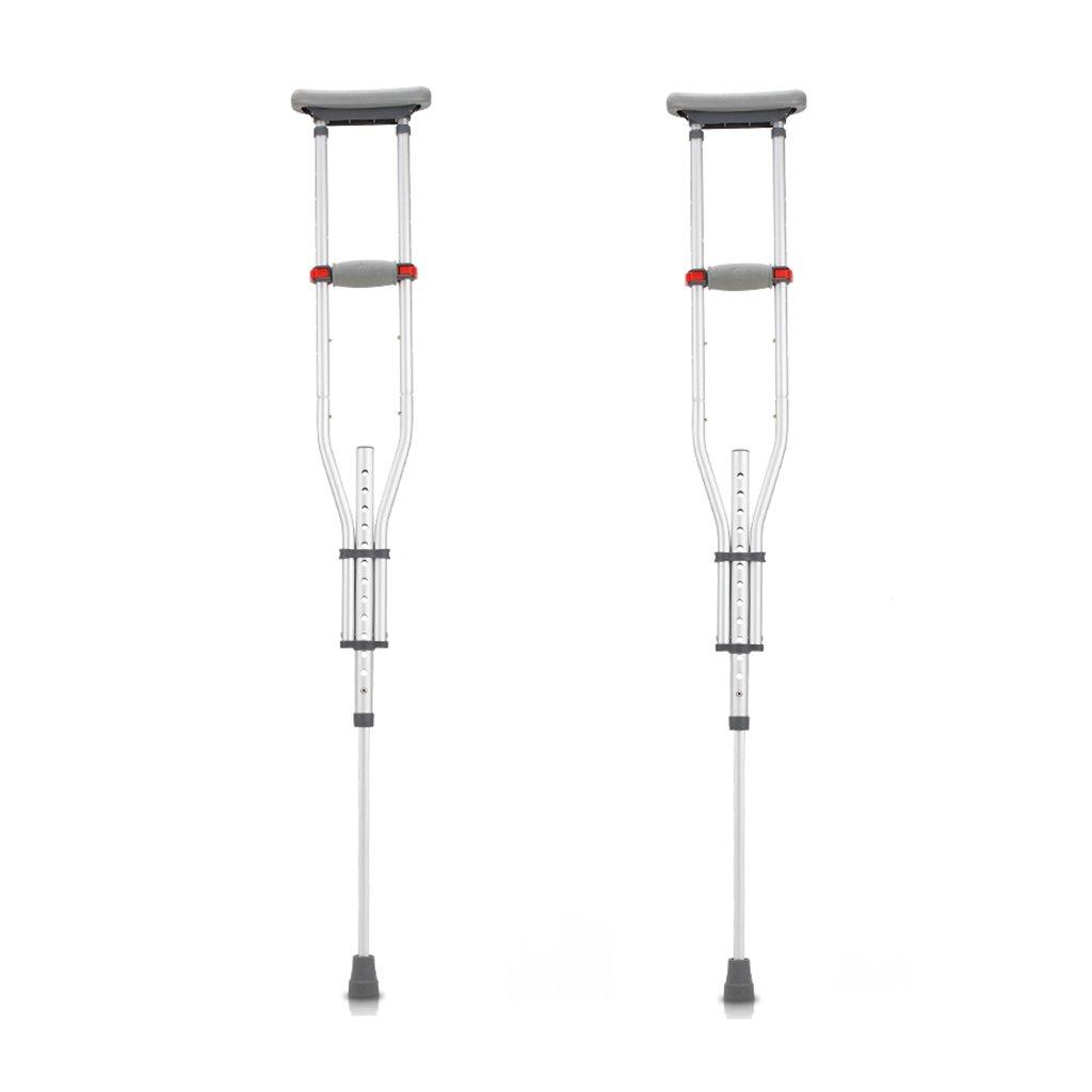 NUBAO 障害を持つ人のための障害を持つ松葉杖は、98-159 cm(35.58-62.60インチ)の調節可能な範囲で柔軟に折り畳むことができます。 (色 : ダブル) B07D2DSXNL ダブル ダブル