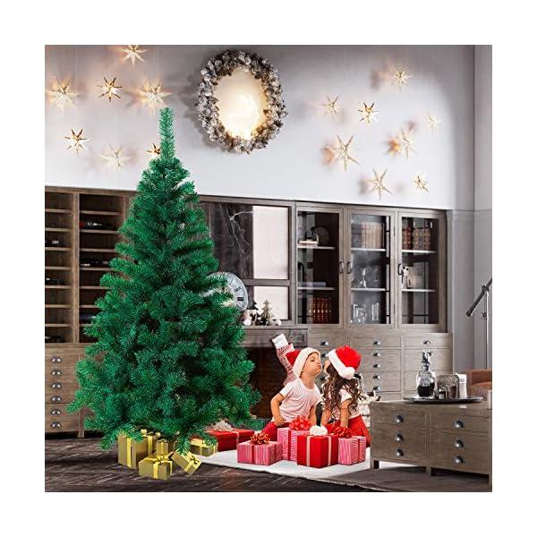 Mctech, albero di Natale artificiale, colore: verde, PVC, 240 cm 6 spesavip