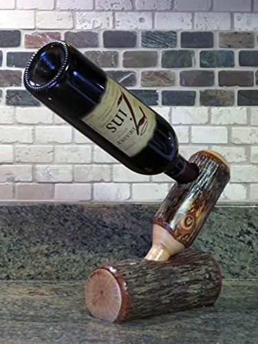 Hickory Wine Bottle Holder ()