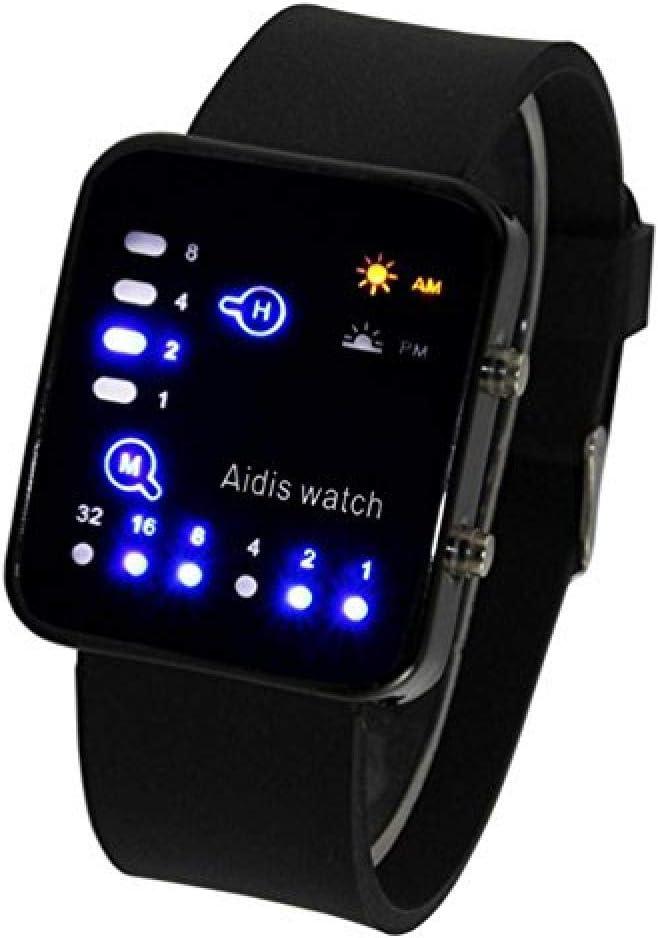 Relojes Hombre Elegantes,Un Reloj literario Juvenil Creativo para Hombres S Reloj Digital Resistente al Agua Reloj Digital @ 4