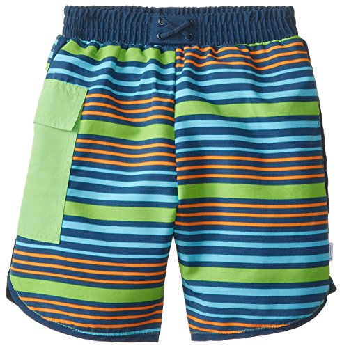 a7313241e2 Baby & Toddler Boys' Striped Pocket Trunks with Built-In Swim Diaper - Buy  Online in Oman. | Apparel Products in Oman - See Prices, Reviews and Free  ...