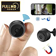#LightningDeal 95% claimed: Mini Spy Camera Wireless Hidden Camera WiFi HD 1080P Small Nanny Cam Home Security Motion Detection Nigh Vision Remote View with Cell Phone App Android iPhone